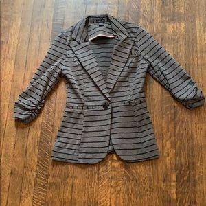Stoosh striped knit blazer- Size S